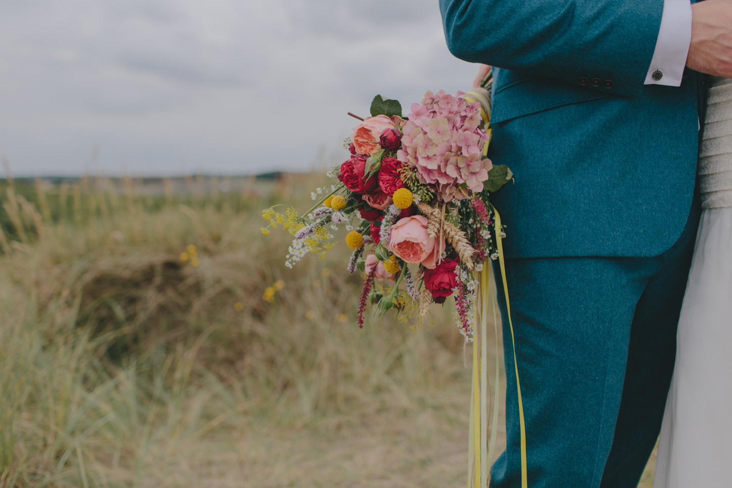 rustic colourful bridal bouquet